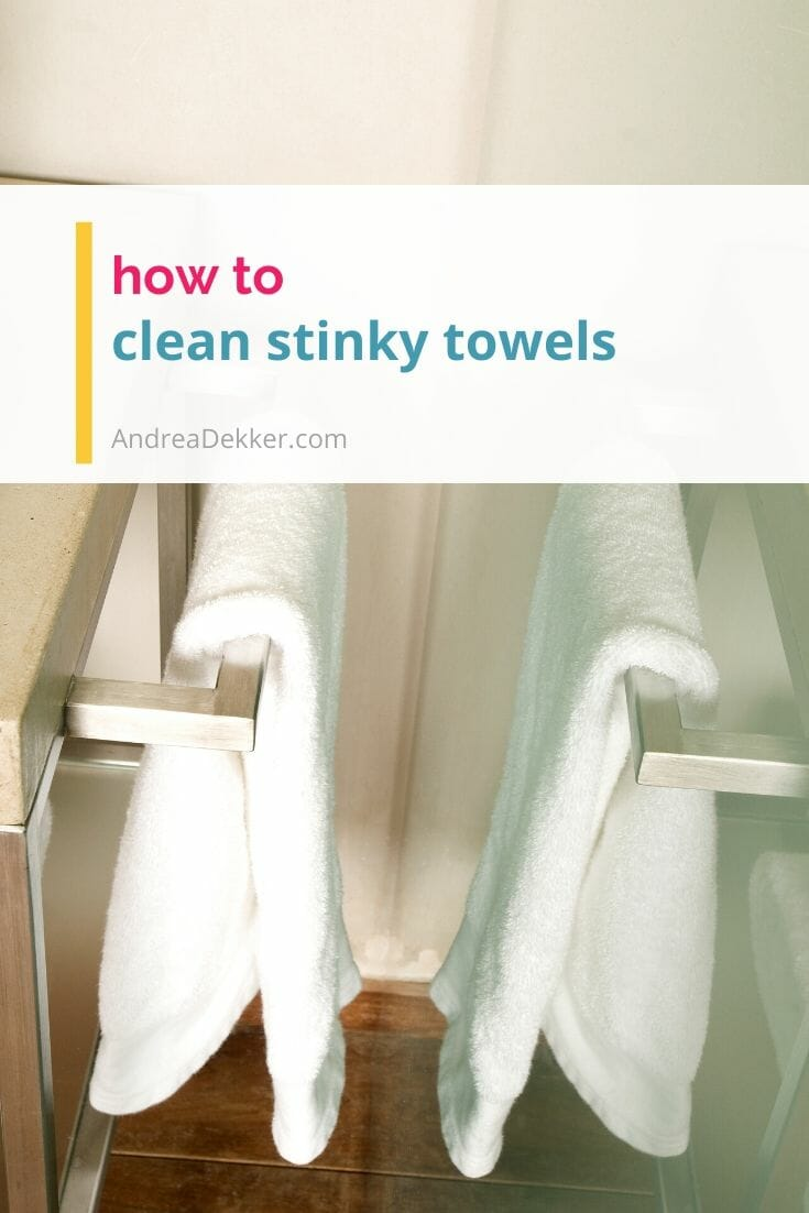 Learn how to clean stinky towels and eliminate the odors for good with these simple tips! No more musty smells coming from the hamper! via @andreadekker