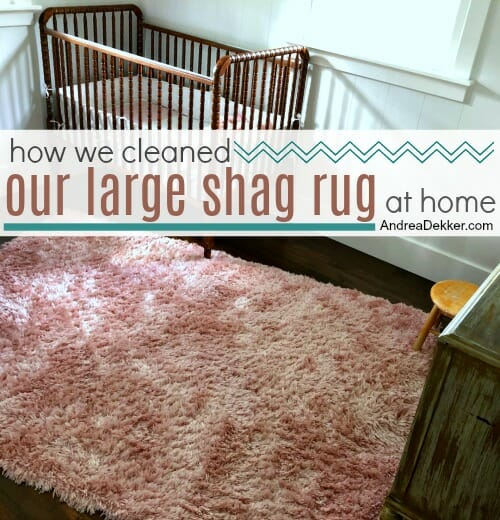 How We Cleaned Our Large Rug At
