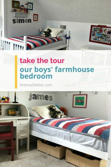 our boys' farmhouse bedroom