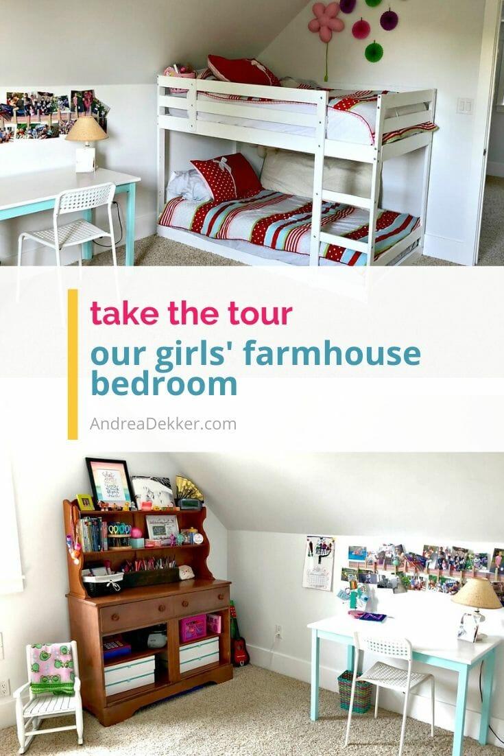 our girls farmhouse bedroom via @andreadekker