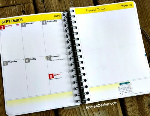 new planner layout
