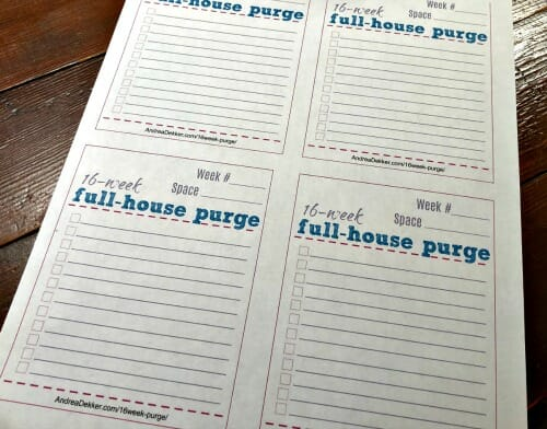 Free Printable Purgin Document