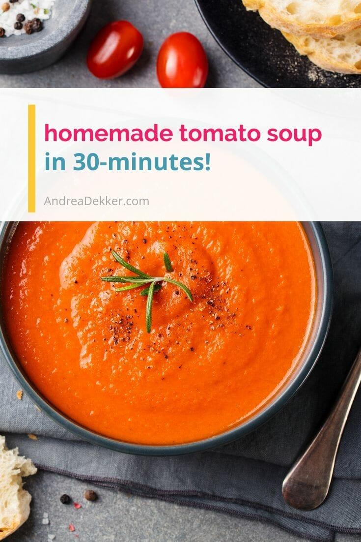 homemade tomato soup via @andreadekker