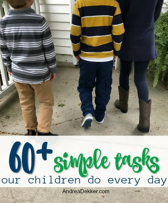 simple daily tasks for children