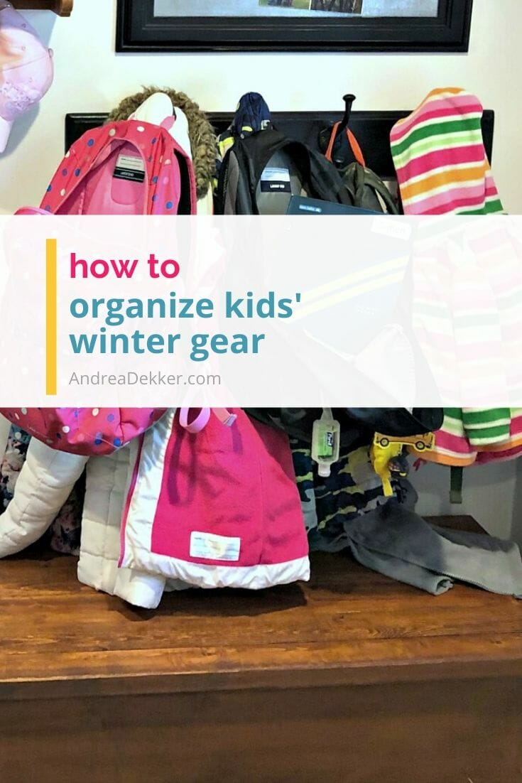 Kids' winter gear can be such a pain to organize. Can you relate? If so, check out these simple, practical tips to quickly and easily organize ALL your kids' winter gear! via @andreadekker