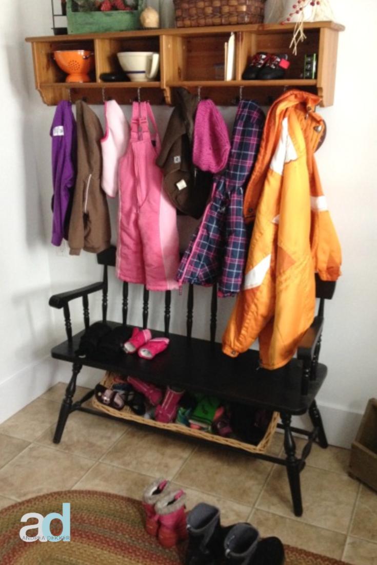how to organize kids winter gear