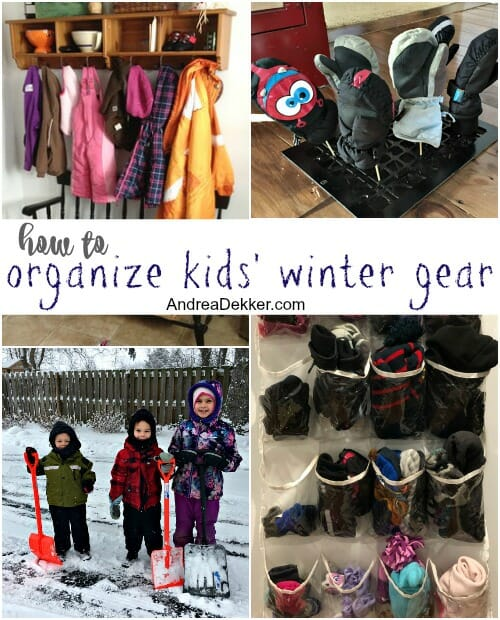 how to organize kids' winter gear