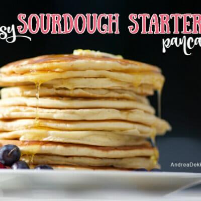 easy sourdough starter pancakes