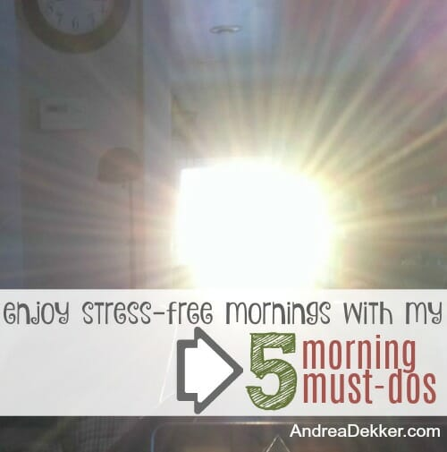 stress-free mornings