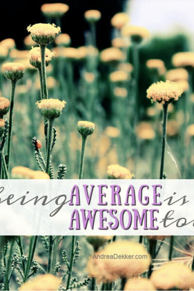 being averages is awesome