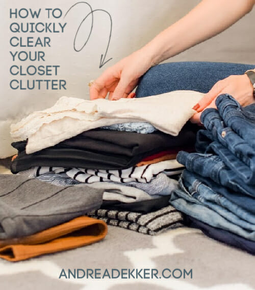 how to clear closet clutter
