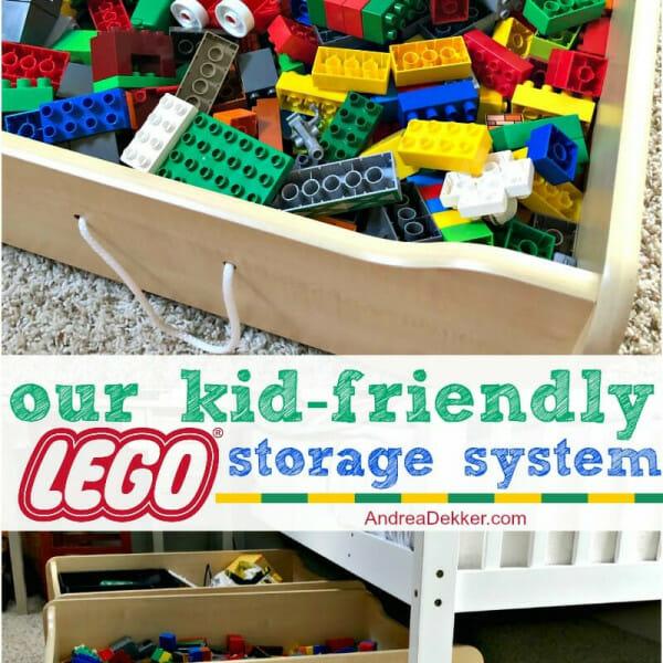 kid friendly lego storage system