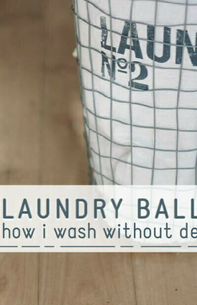 laundry balls how I wash without detergent