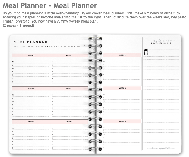 new meal planner