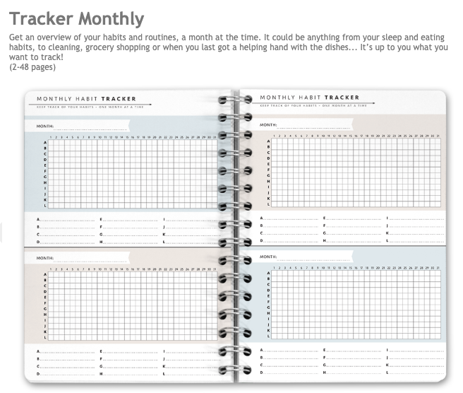 new monthly habit tracker