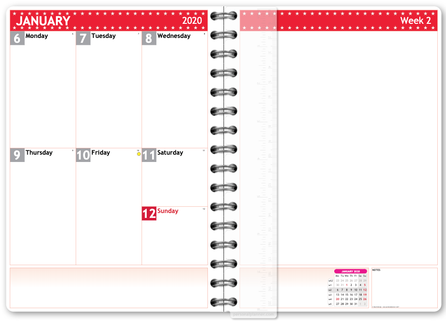 new personal planner page layout