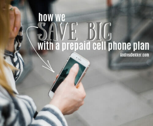how we save big with a prepaid cell phone plan