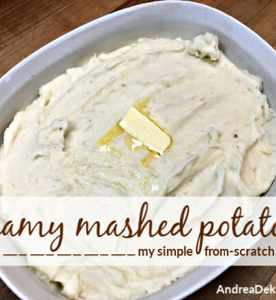 creamy mashed potatoes from scratch
