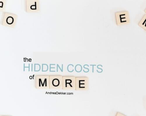 the hidden costs of more