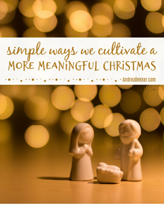 a more meaningful christmas