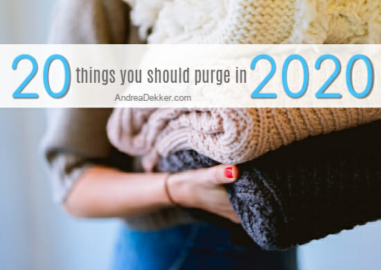 20 things to purge