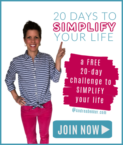 20-day simplify your life challenge