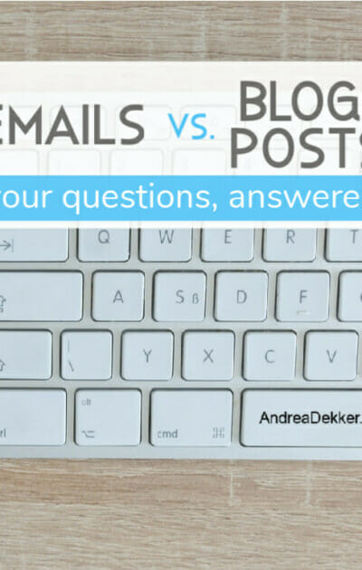 emails versus blog posts
