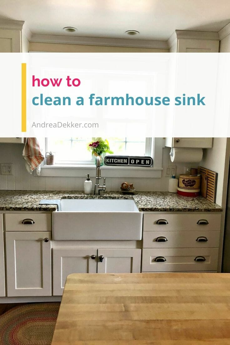 how to clean a farmhouse sink