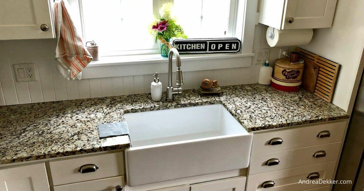 How To Clean A Porcelain Farmhouse Kitchen Sink Andrea Dekker