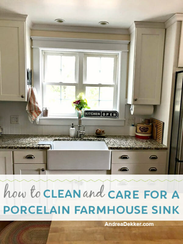 how to clean and care for a farmhouse sink