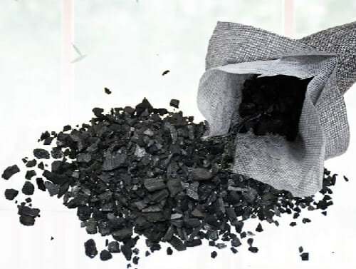 bags of activated charcoal