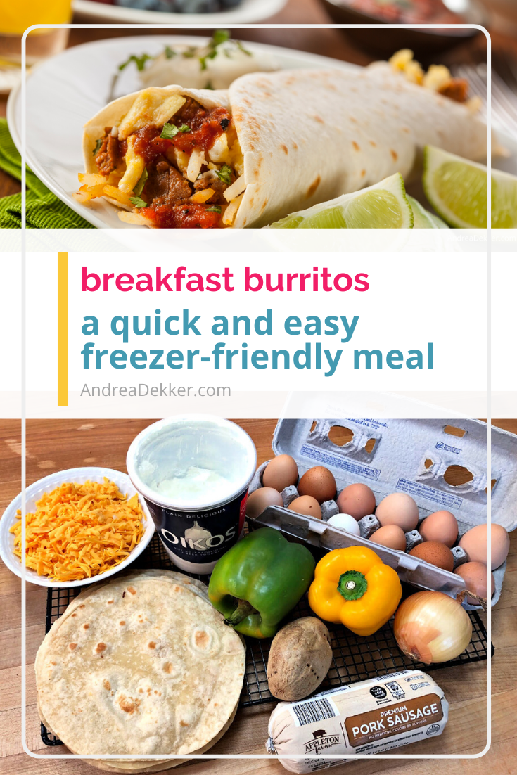 easy breakfast burritos via @andreadekker