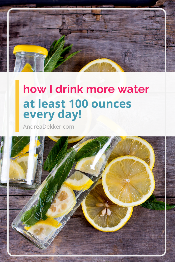 how to drink more water every day via @andreadekker