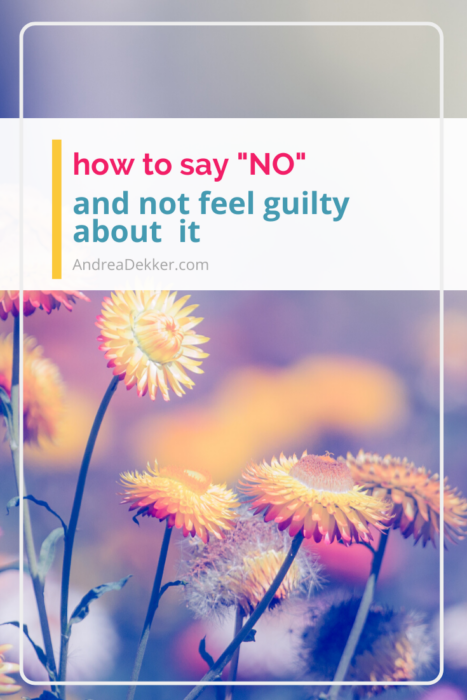 how to say no without guilt