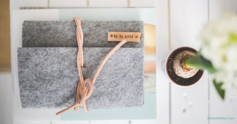 simple tips to get organized for spring