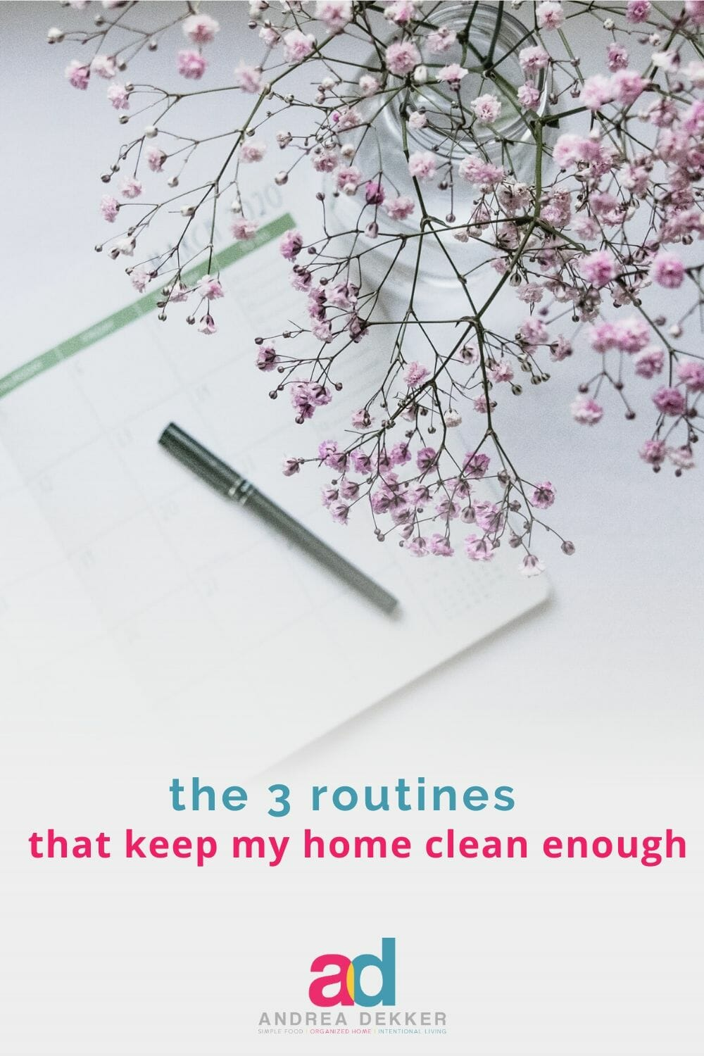 Do you struggle to stay on top of the messes and clutter in your home? If so, learn how to utilize routines to get your home clean & decluttered in less time! via @andreadekker