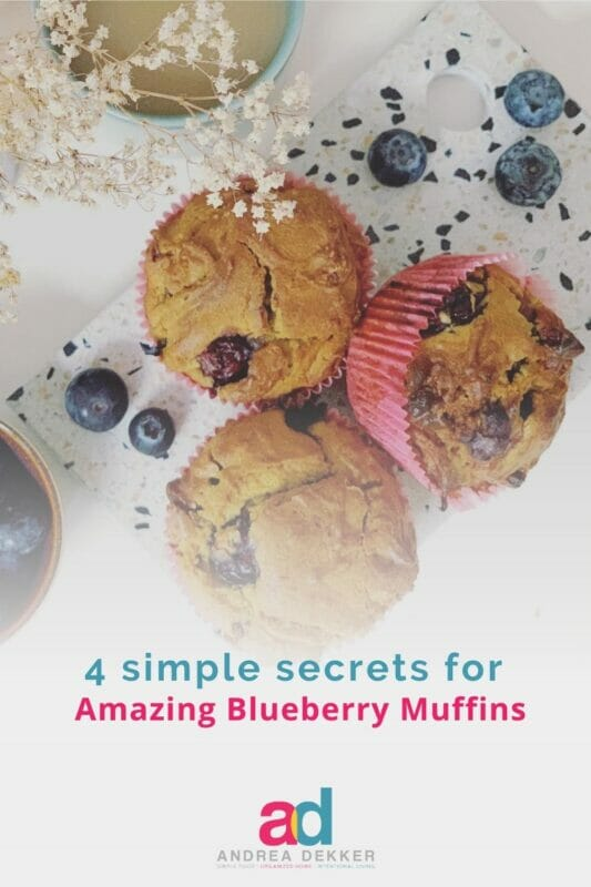4 secrets for easy blueberry muffins