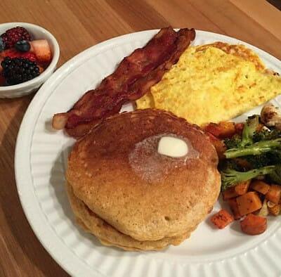 hearty whole grain oat pancakes