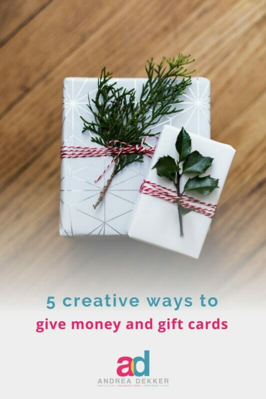 creative ways to give money and gift cards