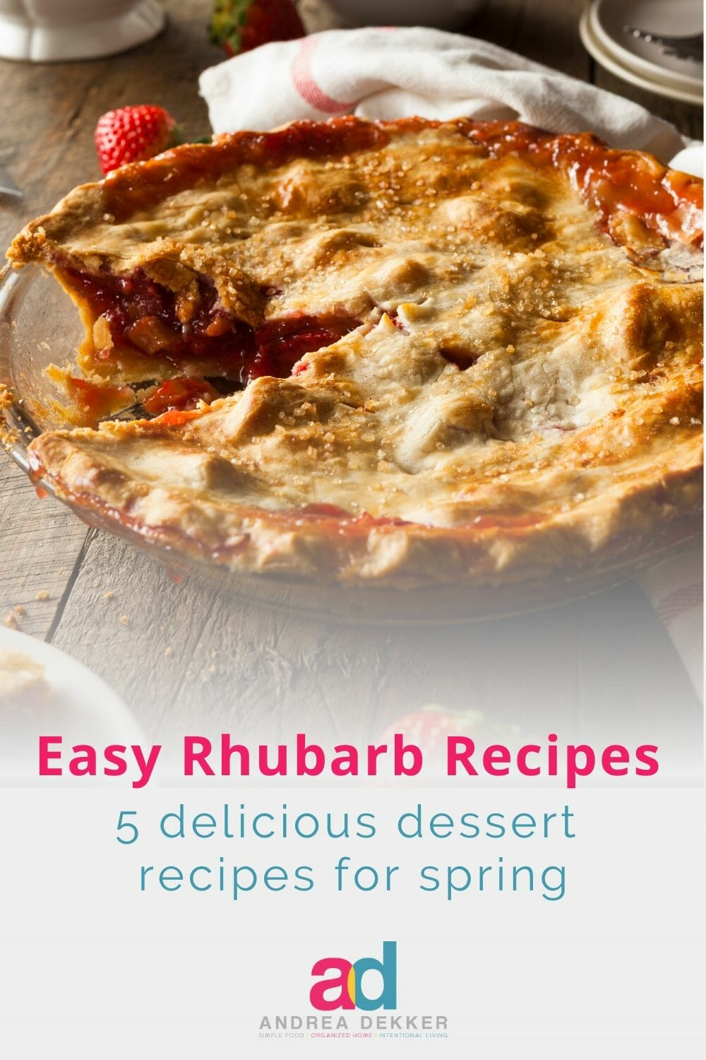 Rhubarb is one of my favorite springtime treats -- thankfully, there are plenty of easy rhubarb dessert recipes to satisfy my hankering for this tart and tangy fruit!  via @andreadekker