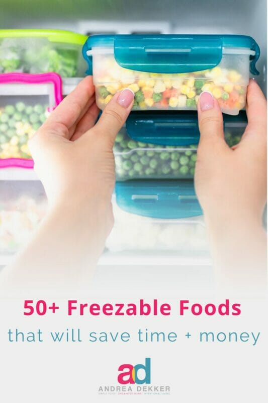 my favorite freezable foods