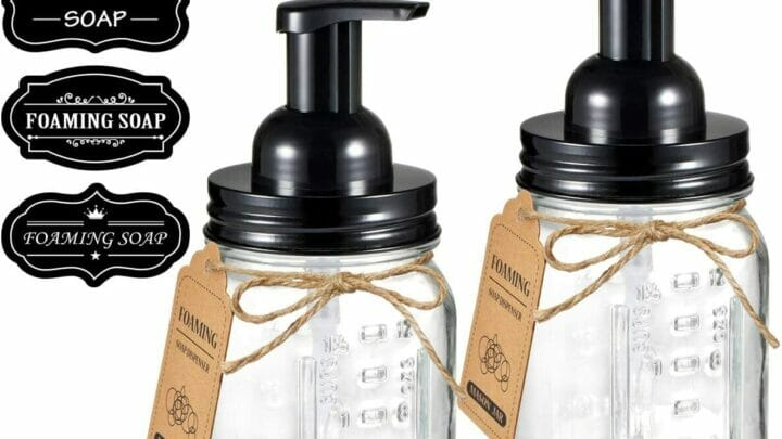 Mason Jar Foaming Soap Dispenser (2)