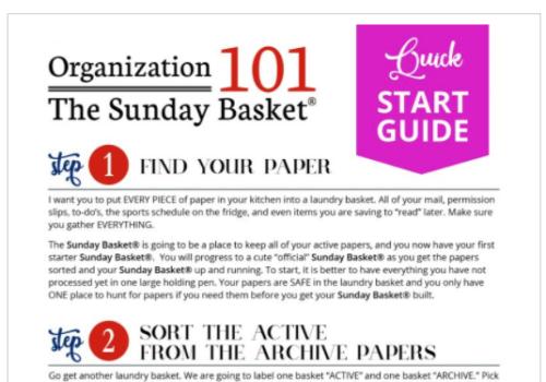 sunday basket printables