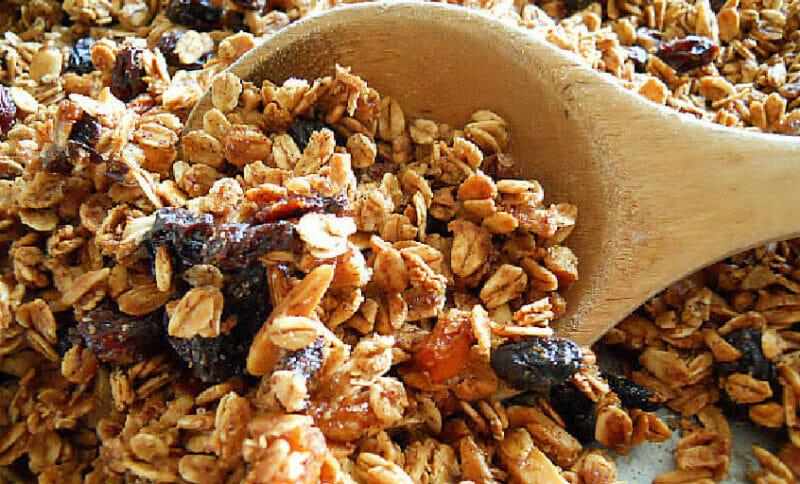 stir granola half way through baking