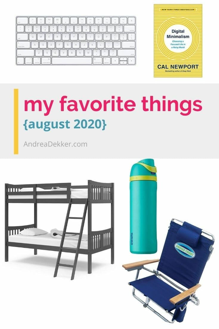 Check out my recent favorites for a simpler, more organized home and life -- everything from a water bottle I said I'd never buy, to the book that completely shifted my thought process on social media... and a recent tech update that has been a total game-changer for me! via @andreadekker