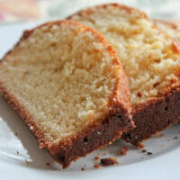 super easy almond pound cake