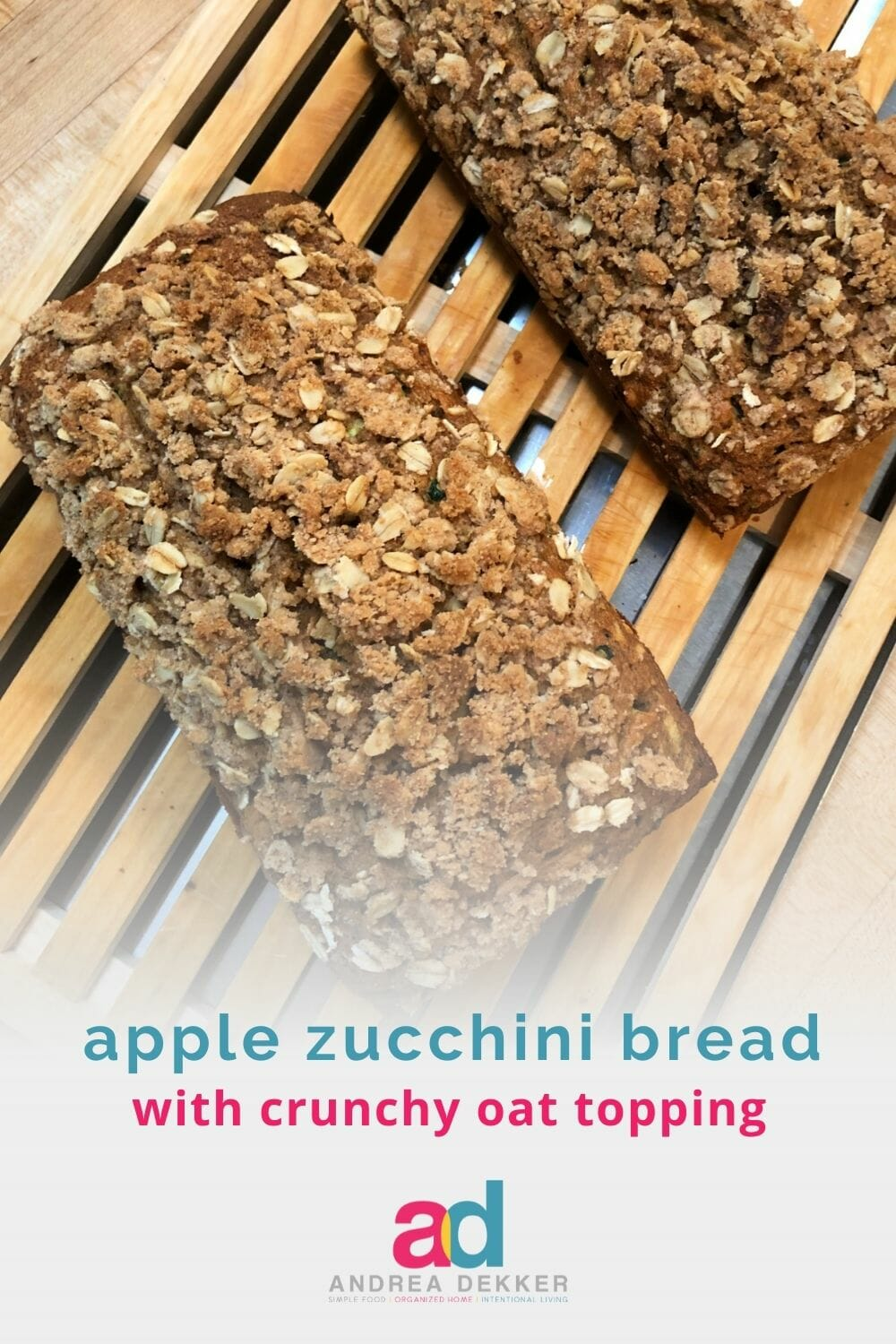 When the summer zucchini season overlaps the early apple crop here in West Michigan, I know it's time for a loaf (or 6) of our favorite Apple Cinnamon Zucchini Bread. via @andreadekker