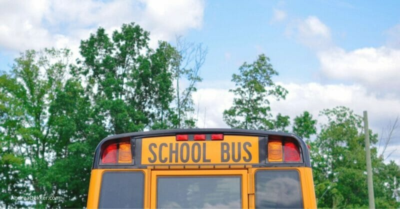 school bus and new school routine