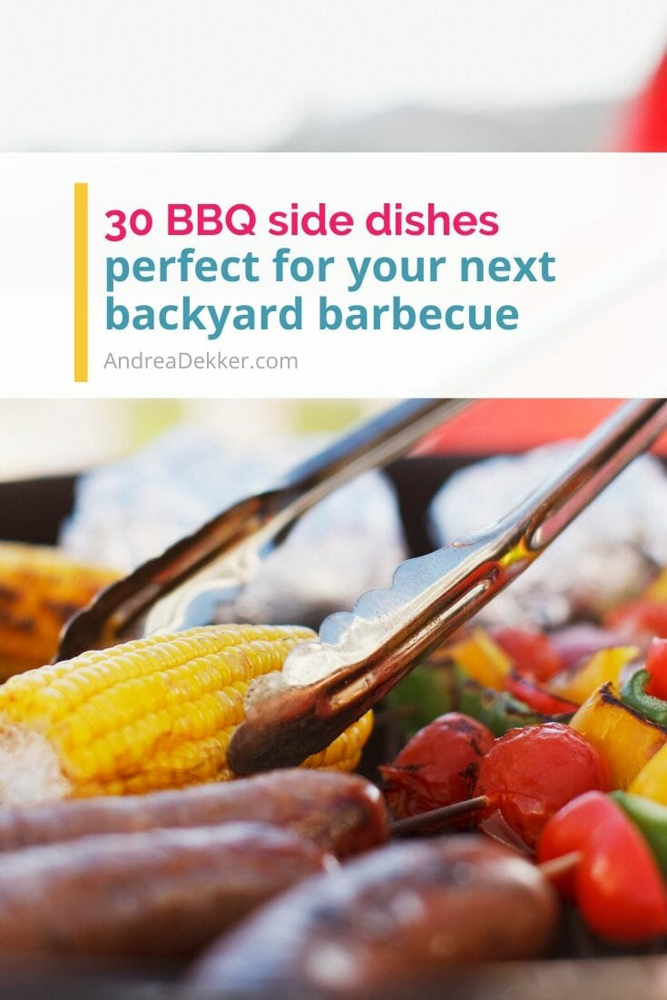 Backyard BBQs are one of the best things about spring and summer. Obviously, the main part of any BBQ is the meat; but what about everything else? It's usually the side dishes that can make or break the meal. If you're struggling to come up with easy BBQ side dishes to serve at your own party or bring to a friend's party... try a few of these super simple Backyard BBQ Side Dishes. via @andreadekker