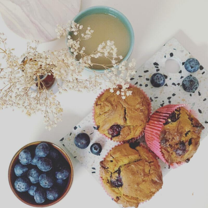 moist blueberry muffins